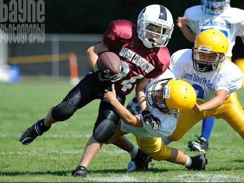 kids playing Youth football tackle break touchdown - YouTube