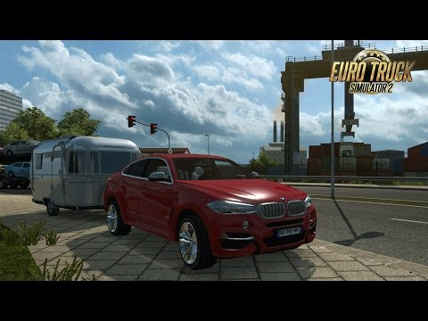 BMW X6 M I CITY CAR DRIVING SUR EURO TRUCK SIMULATOR 2 I + TRAILER I ELLE EST GENIAL !