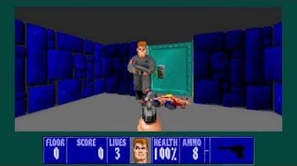 WOLFENSTEIN 3D INTERNET COOP GAMEPLAY