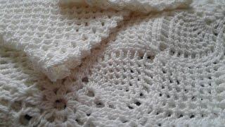 Квадратный мотив крючком. Соединение квадратных мотивов // Crochet motif