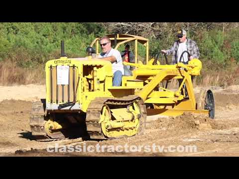 Classic Caterpillar Equipment Working At Ederville In North Carolina