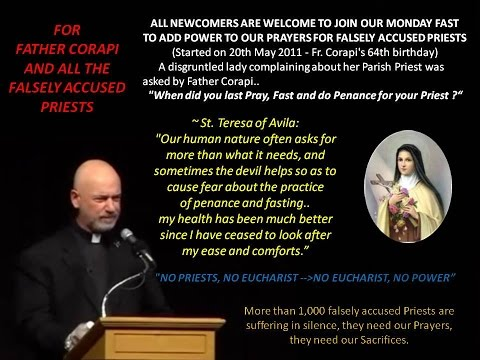 JOIN OUR MONDAY FAST TO ADD POWER TO OUR PRAYERS FOR FALSELY ACCUSED PRIESTS