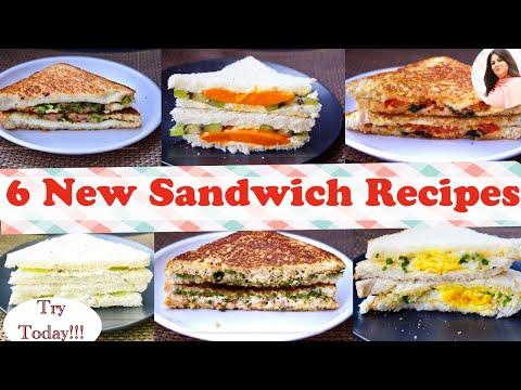 6 Best Sandwich Recipes, New Easy & Healthy Sandwich Recipes For Kids In 5 Min, Breakfast/ Lunch Box