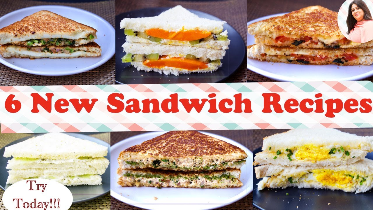 6 Best Sandwich Recipes New Easy Healthy Sandwich Recipes For Kids In 5 Min Breakfast Lunch Box Youtube