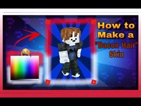 New Pixelgun 3d How To Make A Roblox Bacon Hair Skin Requested