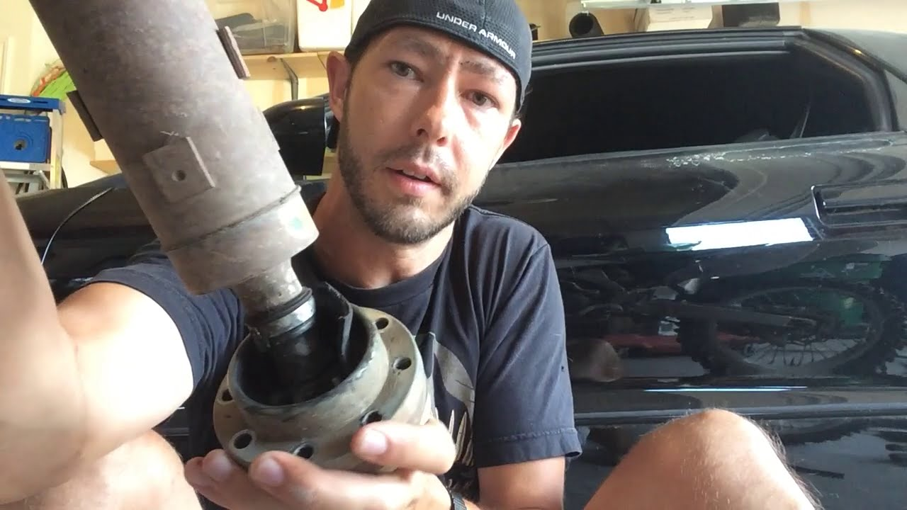 What a failing front JK driveshaft looks like   YouTube