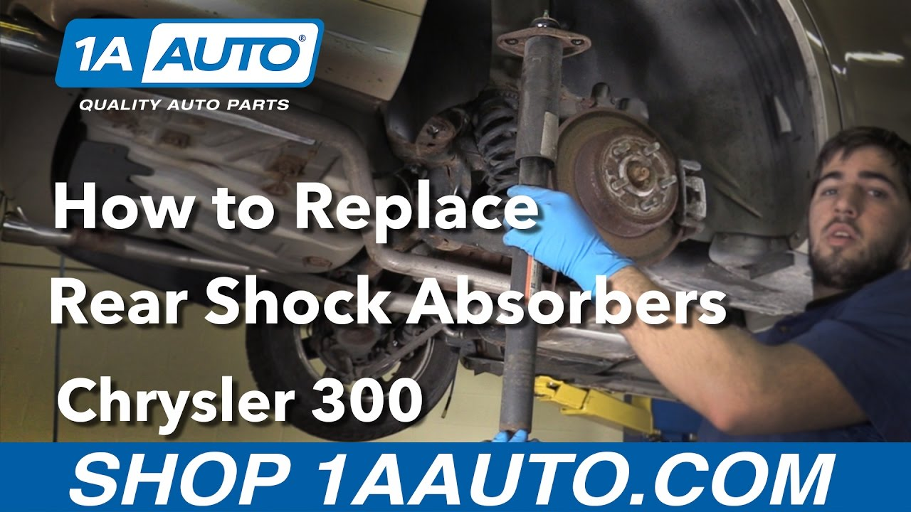 medium resolution of how to install replace rear shock absorbers 05 14 chrysler 300
