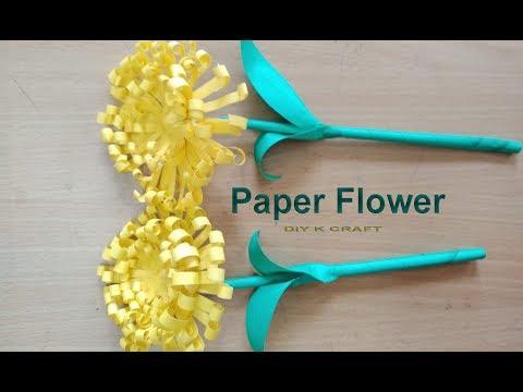 Paper Hand Flower | DIY K CRAFT