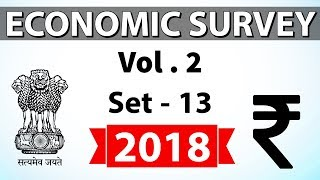 Economic Survey 2018 Volume 2 Set-13 Multidimensional analysis for UPSC/RBI/IBPS/SBI/State PCS