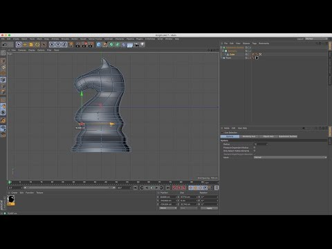 Cinema 4D Tutorial - How to Model a Chess Set - Part 6: Knight