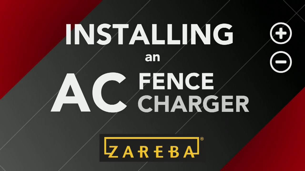 how to install an ac plugin fence charger electric fence 101 zareba youtube [ 1280 x 720 Pixel ]