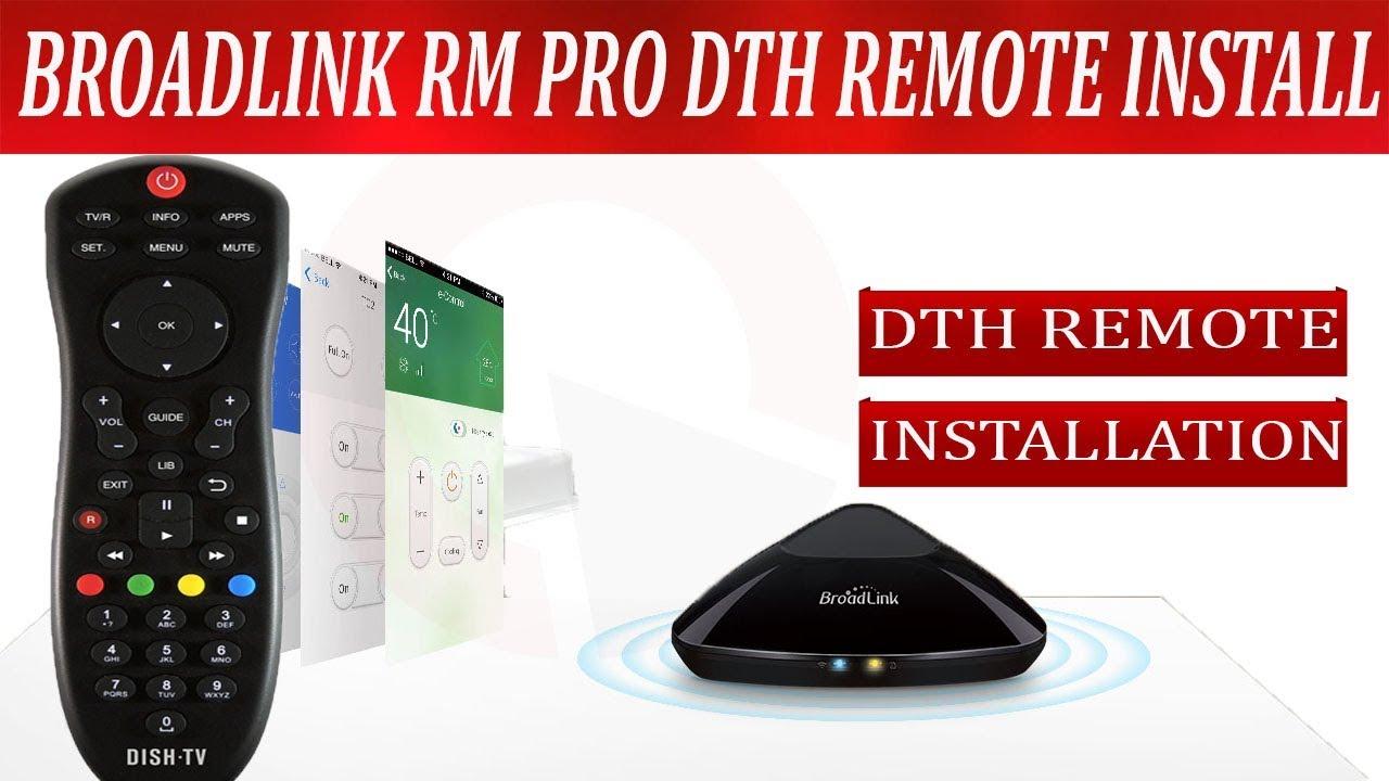 broadlink rm pro set top box dth control installation instructions