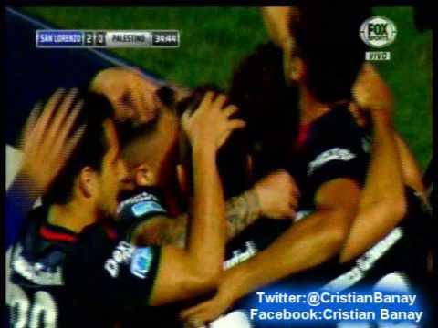 San lorenzo 2 Palestino 0 (ADN Radio Chile) Copa Sudamericana 2016