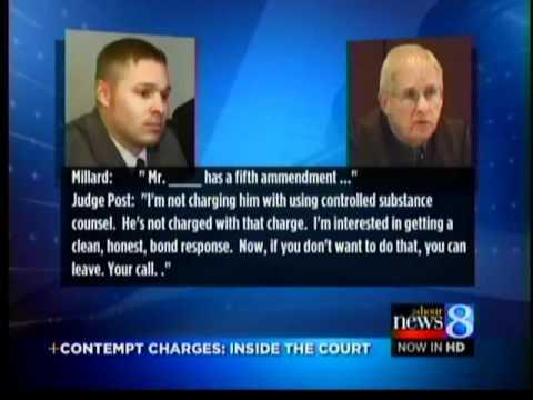 Contempt of court: judge vs attorney