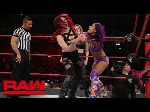 Bayley & Sasha Banks vs. Samantha Simon & Karen Lundy: Raw, July 23, 2018