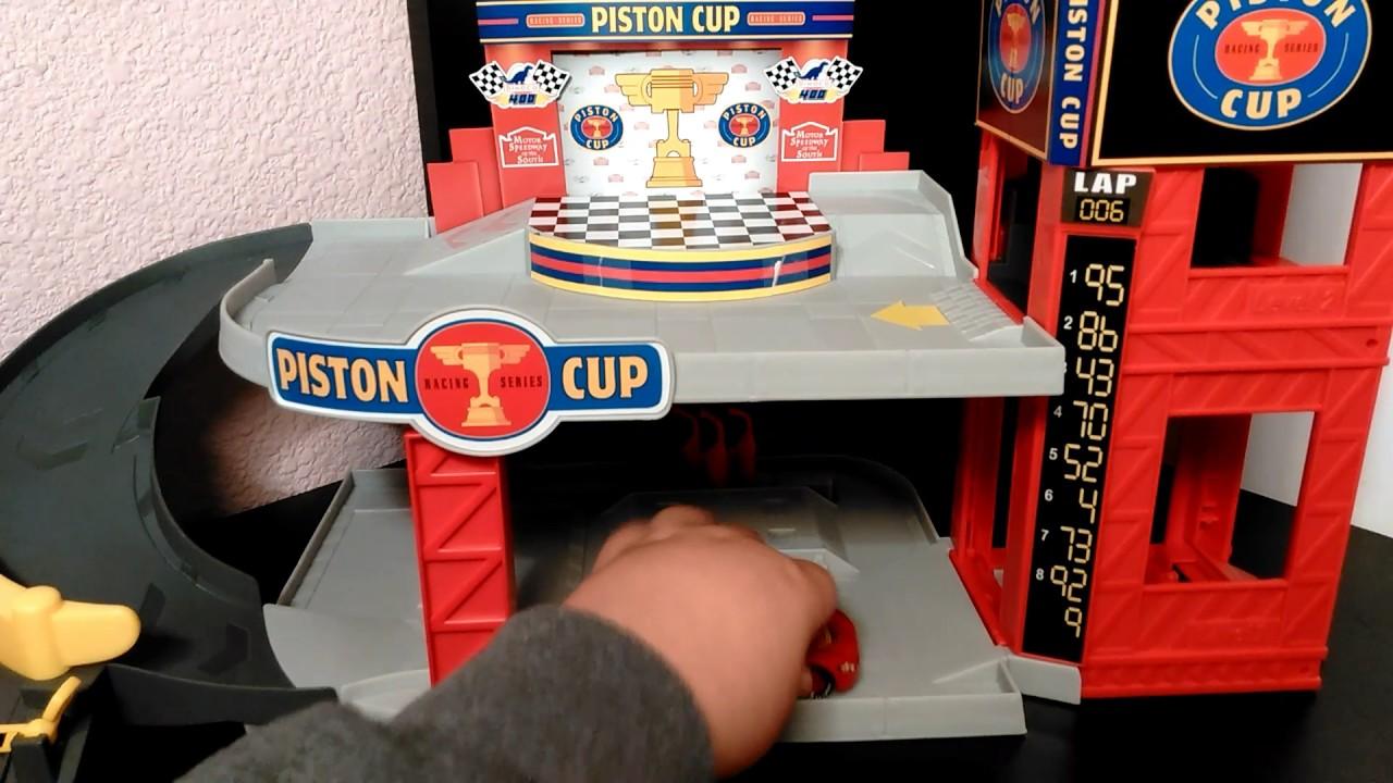 Disney Pixar Cars Piston Cup Racing Garage Youtube