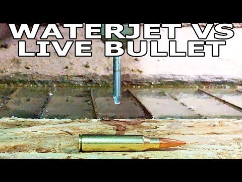 Ammunition Cut in Half with Waterjet