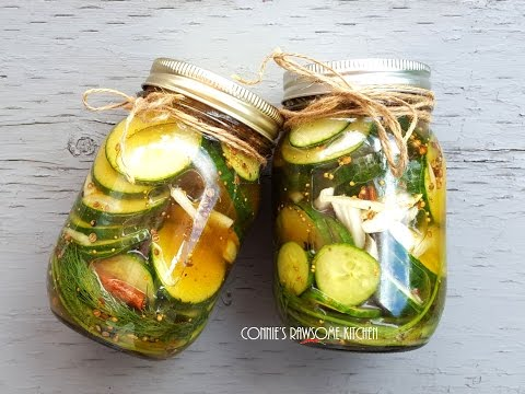MY TOP SECRET FAST EASY CHEAP HEATHY VEGAN BREAD AND BUTTER  RAW PICKLES