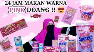 Download 24 JAM MAKAN WARNA PINK DOANG !!! 😍 || CHALLENGE ||