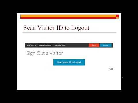 SafeVisitor Visitor Management System
