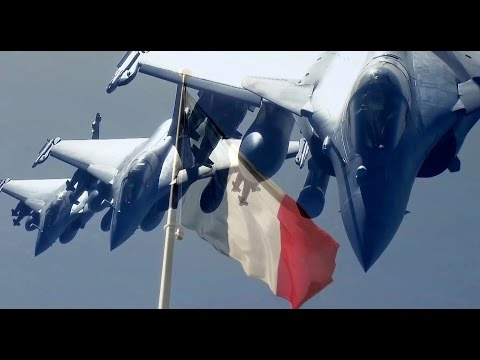 French Rafale Fighter Jets striking Syrian Positions