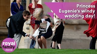 Hold on to your hats! Princess Eugenie's windy wedding