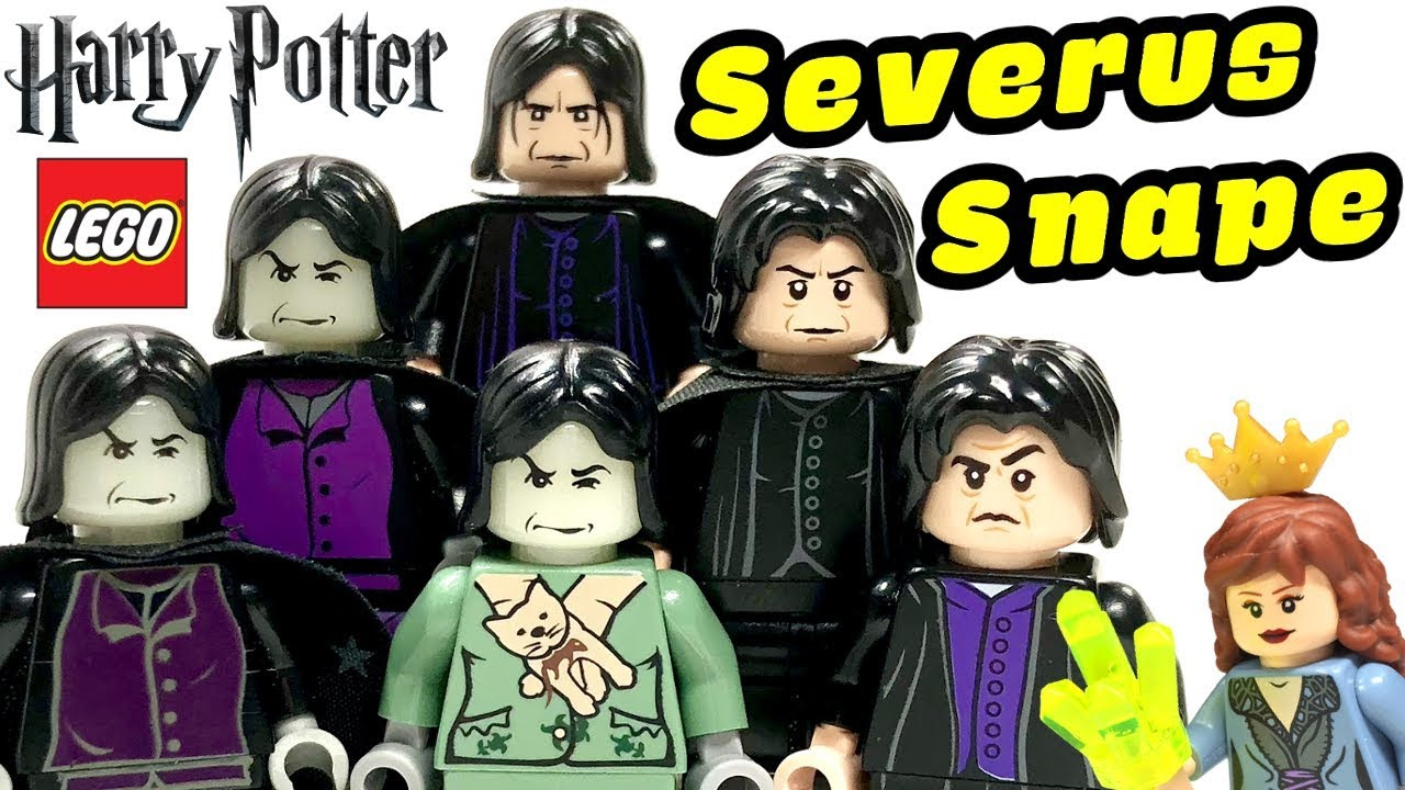 "New Custom LEGO Minifigure Professor Snape From ""Harry Potter"""