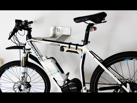 wandhalterung fahrrad wall bike mount 20 kg e bike steel stand torque youtube. Black Bedroom Furniture Sets. Home Design Ideas
