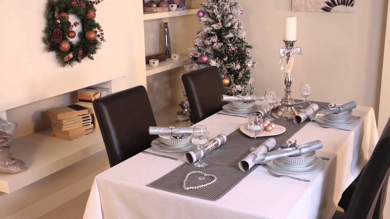 Dress your table for christmas with littlewoods youtube Christmas table dressing