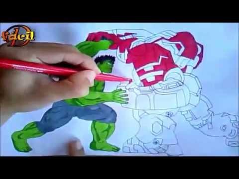 Hulk Vs Hulkbuster Desenhando E Pintando Desenha Fácil