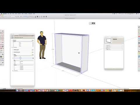 SketchUp dynamic component cabinet
