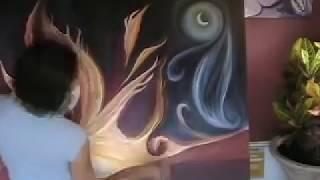 Cedar Lee Paints Fiery Sky