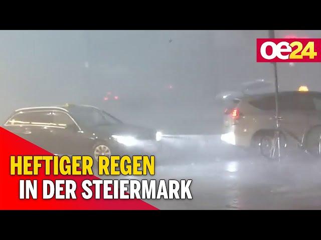 Unwetter: Heftiger Regen in der Steiermark