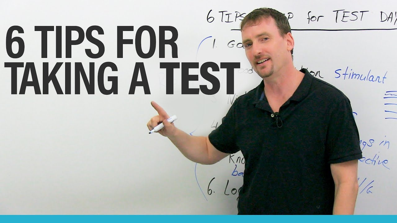 My 6 TOP tips fortaking tests and exams