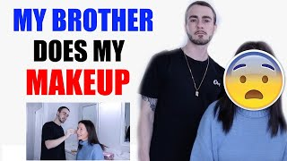 BROTHER DOES MY MAKEUP & WE ANSWER YOUR QUESTION | CHANNON ROSE