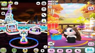My Talking Angela Level 51 VS My Talking Lady Dog  Level 18 Gameplay Great Makeover for Children HD