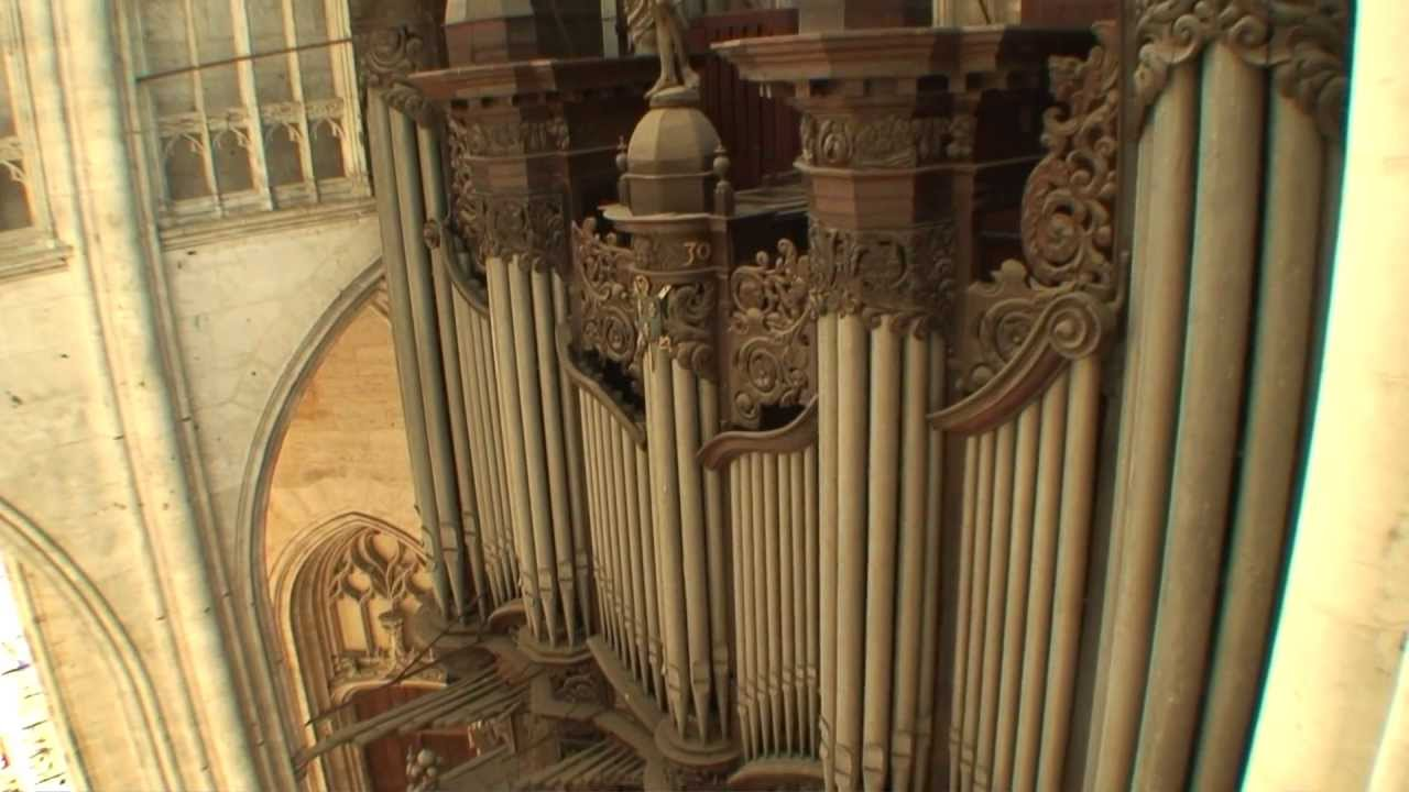 "Kalevi Kiviniemi plays Widor's ""Toccata"" at St.Ouen, Rouen, France"