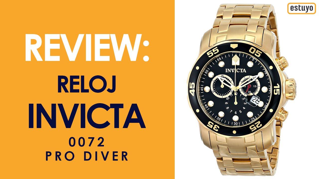 el más nuevo b3db8 e32dc Reloj Invicta Pro Diver 0072 Review en Español - Estuyo.com