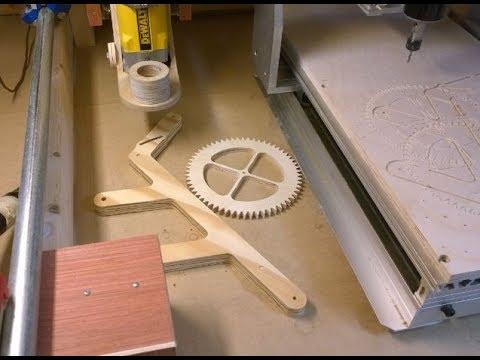 DIY CNC - Genesis Wood Gear Clock - First Cuts!