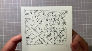 CarrieFish Zentangle - 在家學禪繞003