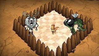 Dont Starve противостояние Циклоп олень против драконьей мухи