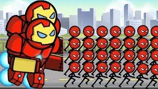 HERO WARS Super Stickman Defense - New 1vs1 & 2vs2 MODE Update on City Map Hack - Gameplay H