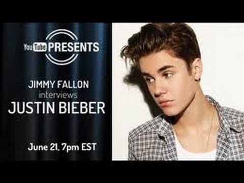Justin Bieber and Jimmy Fallon  Presents