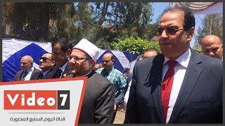 مفتى الجمهورية يصل تمى الامديد بالدقهلية لافتتاح مسجد الصحابة