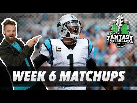 Fantasy Football 2018 - Week 6 Matchups, In-or-Out, Boatraces & Cakewalks - Ep. #627