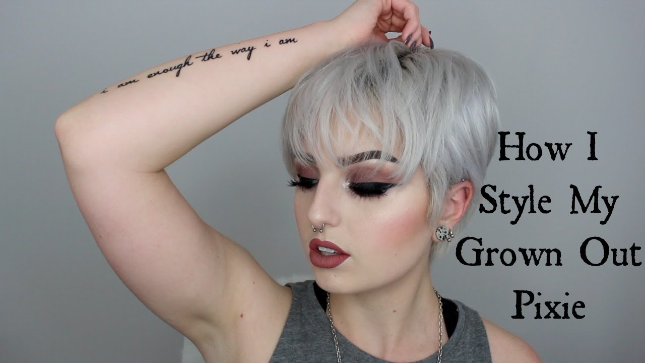 How I Style My Grown Out Pixie Youtube
