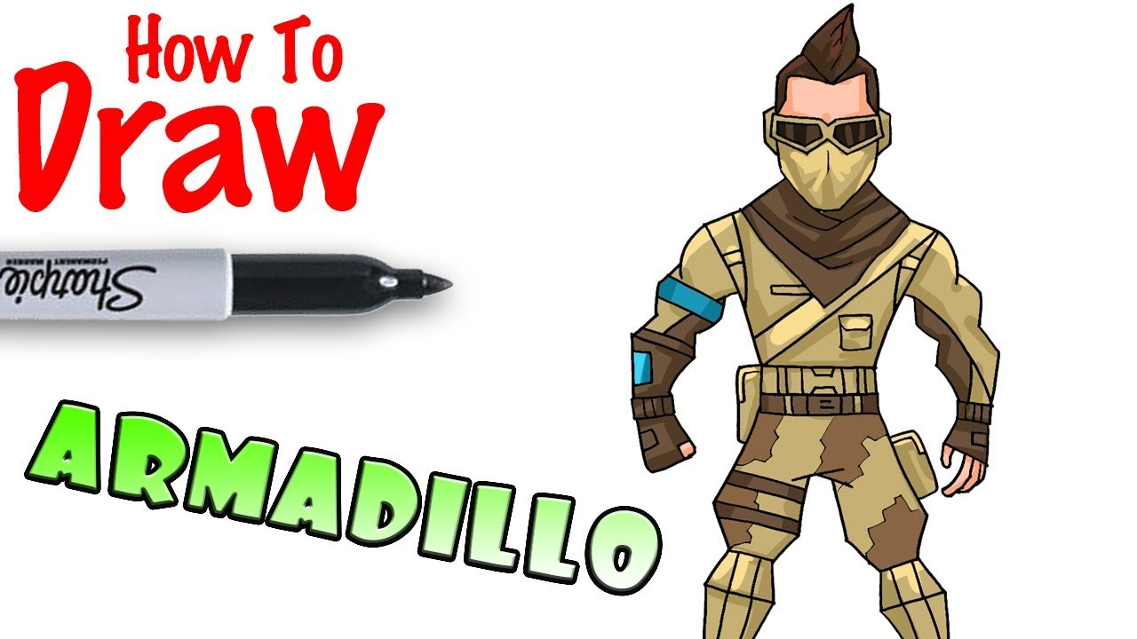 how to draw an armadillo # 50