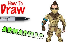 How to Draw Armadillo | Fortnite