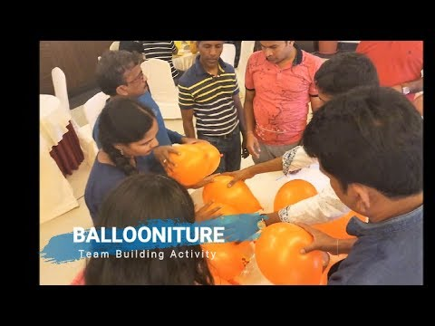ballooniture:-fun-team-building-activity-at-work-place-for-corporate-employees