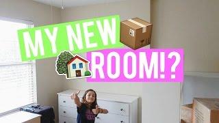 SETTING UP MY NEW BEDROOM!   MiaVlogs
